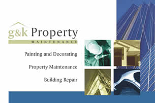 Kdesign business cards stationery logos for Property maintenance business cards